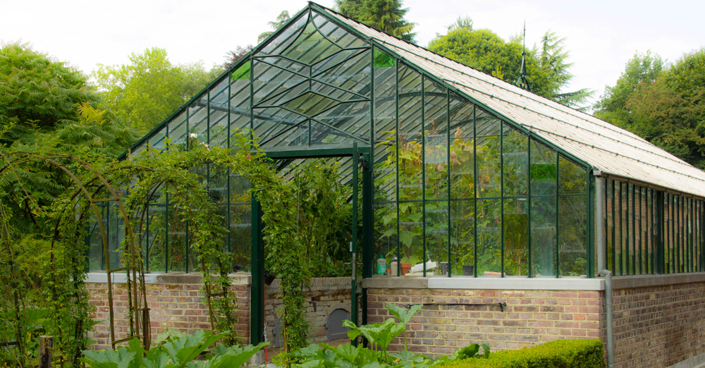 Brick Foundation Greenhouse